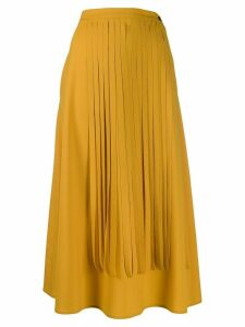 Alysi fringed midi skirt - Yellow