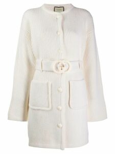 Gucci interlocking G belted cardi-coat - Neutrals