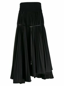 Sacai pleated flared skirt - Black