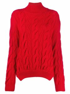 Simone Rocha cable knit sweater - Red