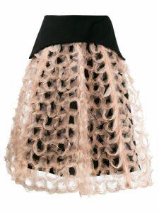 Comme Des Garçons Noir Kei Ninomiya structured A-line skirt - Neutrals
