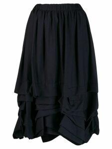 Comme Des Garçons Girl flounce layered midi skirt - Blue