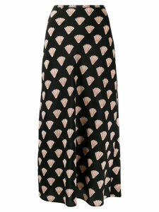 Rixo shell print midi skirt - Black