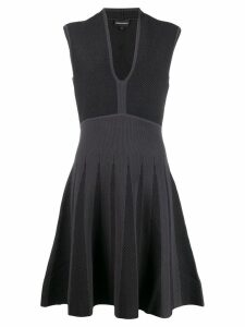 Emporio Armani two tone sleeveless dress - Black