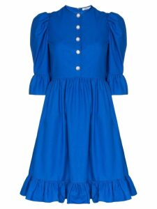 Batsheva Prairie ruffled mini dress - Blue