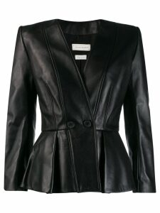 Alexander McQueen fitted wrap-over jacket - Black