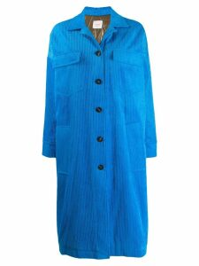 Alysi padded corduroy coat - Blue