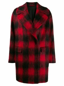 Tagliatore checked cocoon coat - Red