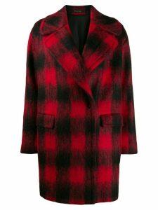 Tagliatore checked cocoon coat - Red