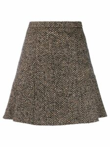 Red Valentino tweed flare skirt - Neutrals