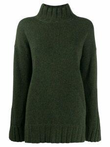Gentry Portofino oversized mock neck jumper - Green