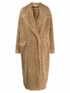 Tagliatore Cathy faux-shearling coat - Neutrals