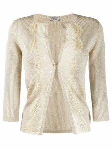 Liu Jo lace panel cardigan - Gold