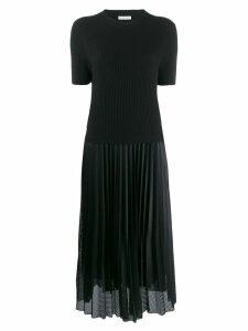 Moncler pleated midi dress - Black