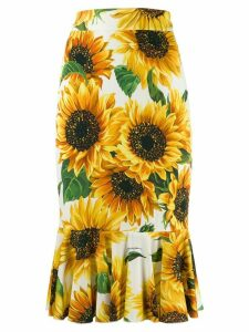Dolce & Gabbana sunflower skirt - Yellow