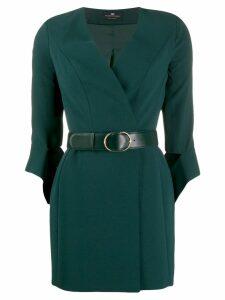 Elisabetta Franchi belted wrap dress - Green