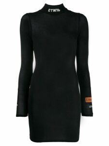 Heron Preston high neck bodycon dress - Black