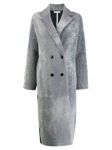 Inès & Maréchal Flirt two-tone coat - Grey
