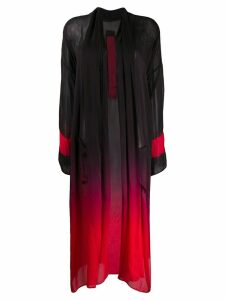 Masnada gradient dyed silk coat - Black