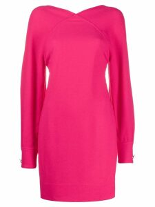 Victoria Beckham open back mini dress - Pink