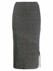 McQ Alexander McQueen lace-up pencil skirt - Grey