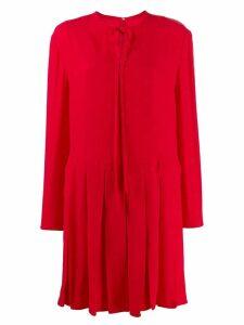 Valentino VLOGO pleated dress - Red