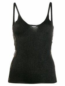 LIU JO V-neck lace top - Black
