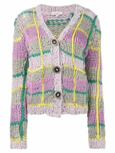 Natasha Zinko knitted check cardigan - Multicolour