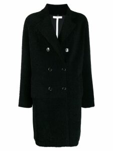 Inès & Maréchal teddy bear shearling coat - Black