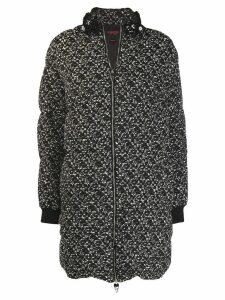 Giambattista Valli tweed puffer jacket - Black