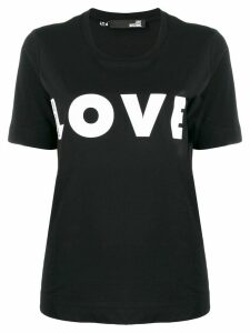 Love Moschino Love print T-shirt - Black