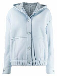 Inès & Maréchal hooded button-up jacket - Blue