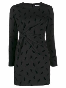 P.A.R.O.S.H. lightening print mini dress - Black