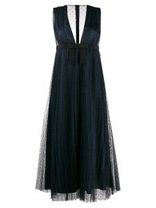 Red Valentino point d'esprit dress - Blue