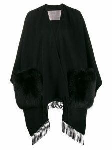 Herno open pocket cape - Black