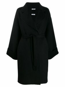 P.A.R.O.S.H. oversized belted coat - Black
