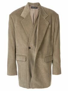 Y/Project oversized corduroy blazer - Neutrals
