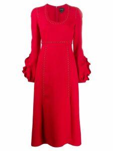 Giambattista Valli stud trim midi dress - Red