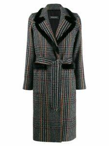 Simonetta Ravizza checked belted coat - Grey