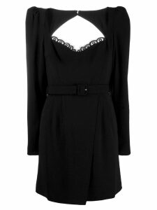 Self-Portrait belted mini dress - Black