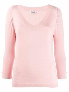 Liu Jo V-neck jumper - Pink