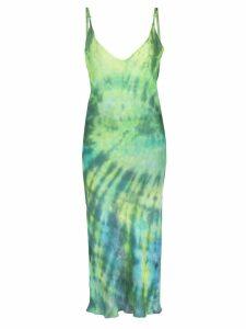 Collina Strada tie dye slip dress - Green