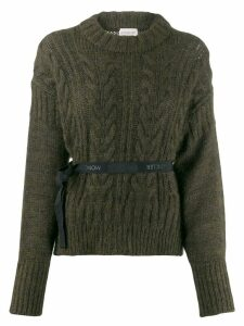 Moncler bow knitted sweater - Green