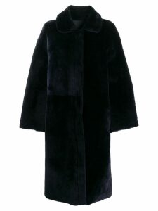 Liska shearling coat - Blue