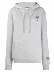 Heron Preston logo embroidered hoodie - Grey