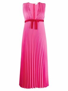 Red Valentino pleated georgette dress - Pink