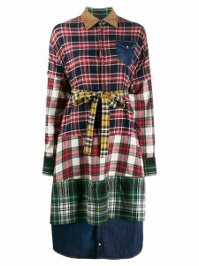 Dsquared2 layered checked shirt dress