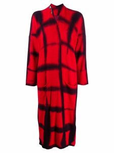Masnada knitted tie-dye cardi-coat - Red