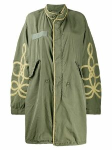 R13 embroidered parka coat - Green