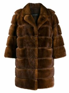 Simonetta Ravizza 3/4 sleeved coat - Brown